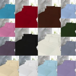 T180 FLAT Bed Sheets - PERCALE 180 THREAD COUNTS 18