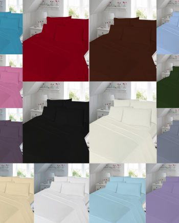 T180 FLAT Bed Sheets – PERCALE 180 THREAD COUNTS 2 350x435