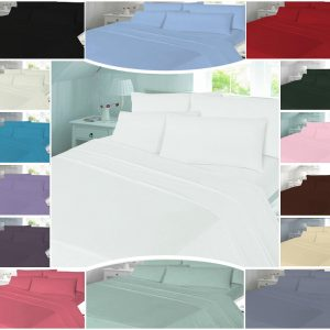 T180 PLAIN Duvet Cover Sets - PERCALE 180 THREAD COUNTS 24