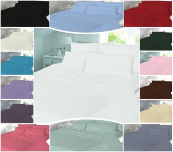 T180 PLAIN Duvet Cover Sets - PERCALE 180 THREAD COUNTS 21