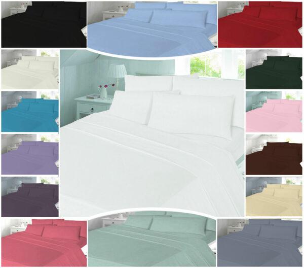T180 PLAIN Duvet Cover Sets - PERCALE 180 THREAD COUNTS 1