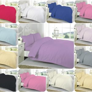 T200 100% Cotton DUVET COVER SET - 200 THREAD COUNTS 20