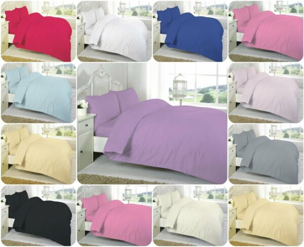 T200 100% Cotton DUVET COVER SET - 200 THREAD COUNTS 1