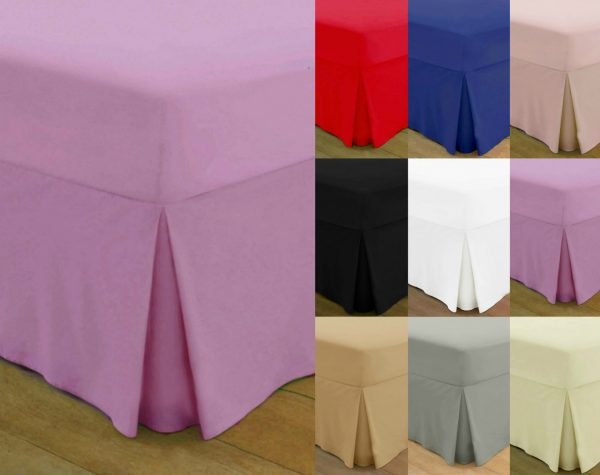 T200 PERCALE VALANCE Bed Sheets - 200 THREAD COUNTS 1