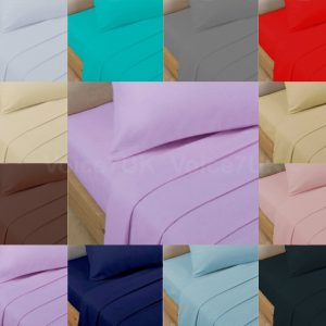 T200 FITTED Bed Sheets PERCALE Quality with 200 THREAD COUNTS 10