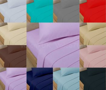 T200 FITTED Bed Sheets PERCALE Quality with 200 THREAD COUNTS 15