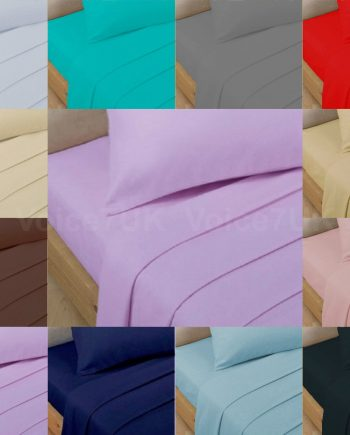 T200 FITTED Bed Sheets PERCALE Quality with 200 THREAD COUNTS All Best 350x435