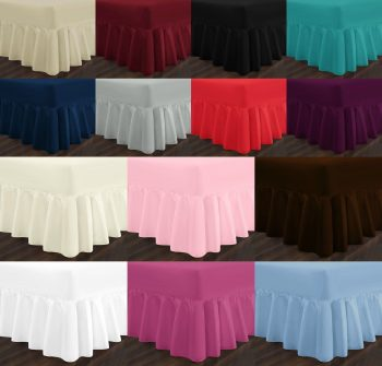 EASY CARE Valance Bed Sheets PolyCotton Fabric 6