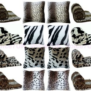 Animal FAUX FUR MINK Throws / Blankets - PolyCotton Fabric 10