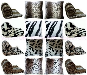 Animal FAUX FUR MINK Throws / Blankets - PolyCotton Fabric 1