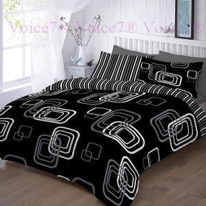 "Luxury ""BLAKE"" Black Duvet Cover Set - PolyCotton Fabric 8"
