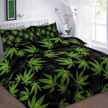 CANNABIS Duvet Cover Set with PillowCases , PolyCotton Fabric 6