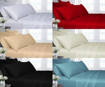 T250 100% Cotton Duvet Cover Set with Pillowcases 23