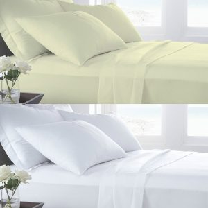 T400 PERCALE 100% Cotton FLAT Bed Sheets - 400 THREAD COUNTS 8
