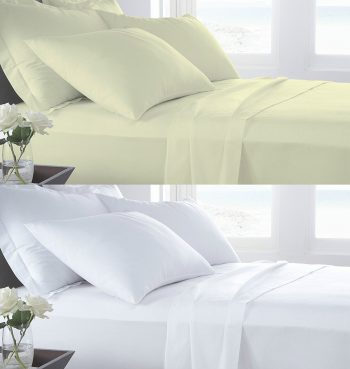 T400 PERCALE 100% Cotton FLAT Bed Sheets - 400 THREAD COUNTS 20