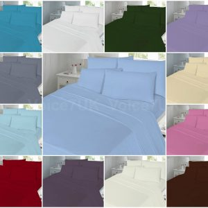 PLAIN T180 Fitted Bed Sheets - 180 THREAD COUNTS 10