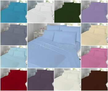 PLAIN T180 Fitted Bed Sheets - 180 THREAD COUNTS 11