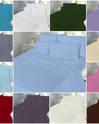 PLAIN T180 Fitted Bed Sheets – 180 THREAD COUNTS Combined 350x435