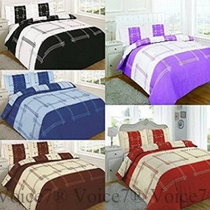 Luxury CAMPUS Duvet Cover Set with Pillowcases - 5 PolyCotton COLORS 22