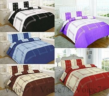 Luxury CAMPUS Duvet Cover Set with Pillowcases - 5 PolyCotton COLORS 17