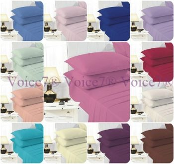 """EASY CARE 16"""" Extra-Deep Fitted Bed Sheets with OPTIONAL PillowCases - PolyCotton Fabric 3"""