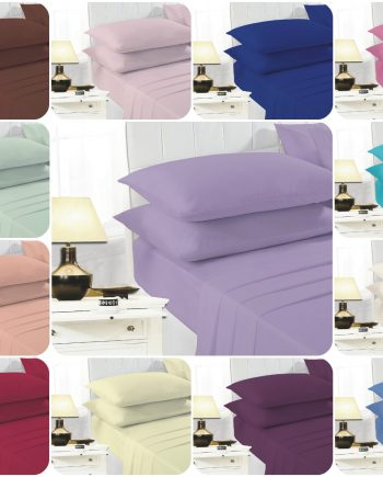 EASY CARE Flat Bed Sheets PolyCotton Fabric ECARE FLAT 350x435