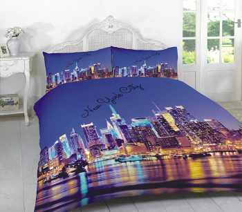 "3D Duvet Sets ""LONDON & NEW YORK"" PolyCotton Fabric 4"