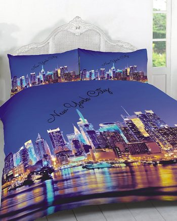 "3D Duvet Sets ""LONDON & NEW YORK"" PolyCotton Fabric New York 350x435"