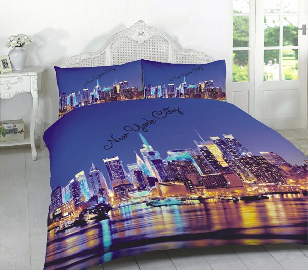 "3D Duvet Sets ""LONDON & NEW YORK"" PolyCotton Fabric 1"