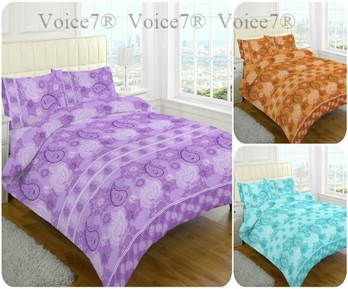Luxury PAISLEY Duvet Cover Sets, 3 PolyCotton COLORS PAISLEY
