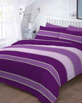 EASTON Duvet Cover Sets with Pillowcases, PolyCotton Fabric Plum 2 350x435