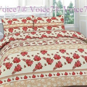 "Flowery ""ROSES"" Red Duvet Cover Set - PolyCotton Fabric 8"