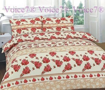 "Flowery ""ROSES"" Red Duvet Cover Set - PolyCotton Fabric 13"