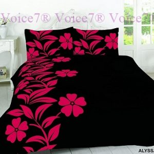 Luxury ALYSSA Red-Black Duvet Cover Set - PolyCotton Fabric 6
