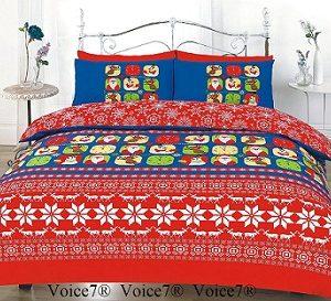 CHRISTMAS FESTIVE Duvet Cover Set - PolyCotton Fabric 6