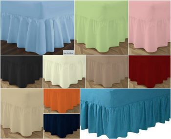 T180 VALANCE Bed Sheets - PERCALE 180 Thread Counts 14