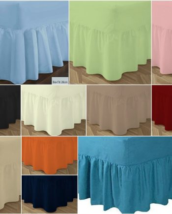 T180 VALANCE Bed Sheets – PERCALE 180 Thread Counts Valance 350x435