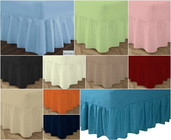 T180 VALANCE Bed Sheets - PERCALE 180 Thread Counts 1