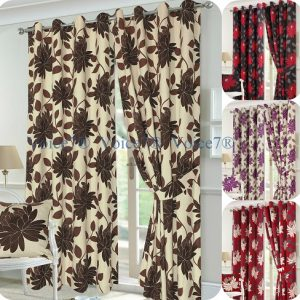 Luxury SEREN Pair of Fully Lines Ready Made CURTAINS 14