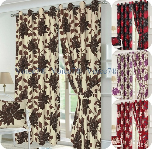 Luxury SEREN Pair of Fully Lines Ready Made CURTAINS 1