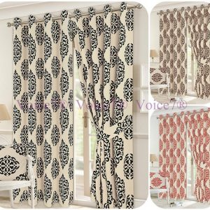 Luxury LEXI Pair of Fully Lined CURTAINS with Tie Backs, 3 Sizes & 3 Colors 14