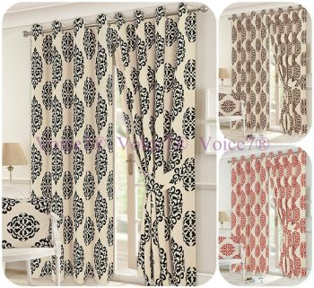 Luxury LEXI Pair of Fully Lined CURTAINS with Tie Backs, 3 Sizes & 3 Colors 1