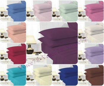 ULTRAFRESH PolyCotton Extra Deep-Fitted Sheets ~ 19 Colors & 4 Sizes 21