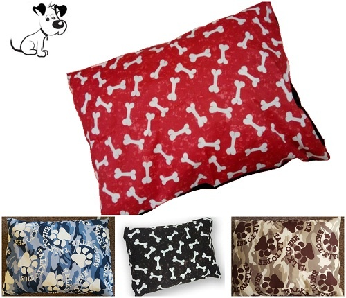 1pc LARGE (37″x27″) DOG BED Filled Pillow/Cushion | PolyCotton Fabric~Removable ZIP | 2