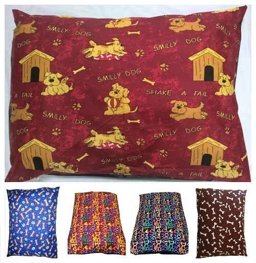 DOG BED PILLOW COVERS ONLY | SIZES: Medium, Large & X-Large | 1