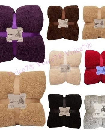 Super Soft Cuddly Thick TEDDY BEAR THROWS SOFA BED BLANKET THROW (DOUBLE & KING Sizes) All Best 350x435