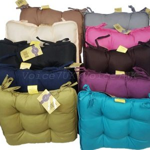 MicroFibre Dumpy Dinning Cushions for Office~Garden~Chair etc | 11 Colors | 8