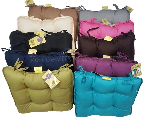 MicroFibre Dumpy Dinning Cushions for Office~Garden~Chair etc | 11 Colors | 1