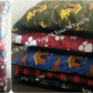 Pack of 5 or 10 ~ LARGE Dog Bed Filled Cushions / Pillows | Removable ZIP~PolyCotton Fabric | 2