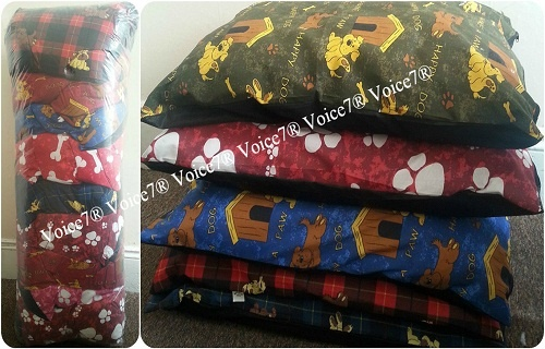 Pack of 5 or 10 ~ LARGE Dog Bed Filled Cushions / Pillows | Removable ZIP~PolyCotton Fabric | 1